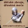 Papírové helmy, dětské zbroje a dřevěné meče pro malé rytíře